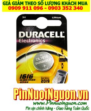 Pin CR1616 _Pin Duracell DL1616; Pin 3v lithium Duracell DL1616 /CR1616 _Vỉ 1viên |HẾT HÀNG