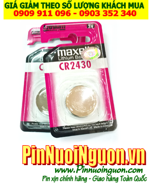 Pin CR2430 _Maxell CR2430; Pin 3v lithium Maxell CR2430 _Cells in Japan _Vỉ 1viên |TẠM HẾT HÀNG