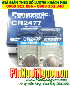 Pin CR2477 Pin Panasonic CR2477; Pin 3v lithium Panasonic CR2477 _Made in Indonesia _Vỉ 1viên