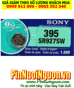 Pin SR927SW _Pin 395; Pin đồng hồ Sony SR927SW _395 silver oxide 1.55v _Made in Indonesia _1viên