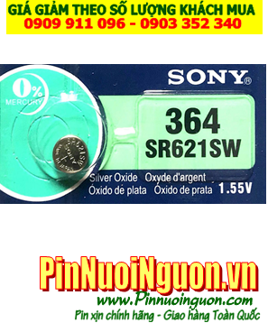 Pin SR621SW _Pin 364; Pin đồng hồ Sony SR621SW-364 silver oxide 1.55V _Made in Indonesia _1viên