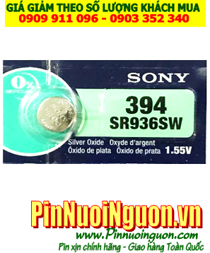 Pin SR936SW _Pin 394; Pin đồng hồ Sony SR936SW-394 silver oxide 1.55v _Made in Indonesia _1viên