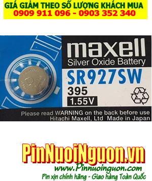 Pin SR927SW _Pin 395; Pin Maxell SR927SW 395 silver oxide 1.55V _Made in Japan