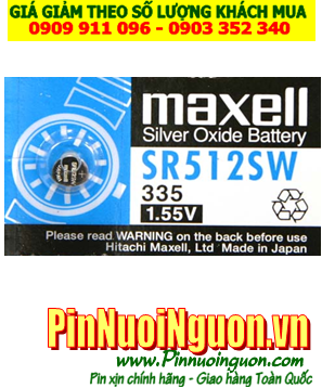Pin SR512SW _Pin 315; Pin Maxell SR512SW  315 silver oxide 1.55V _Made in Japan