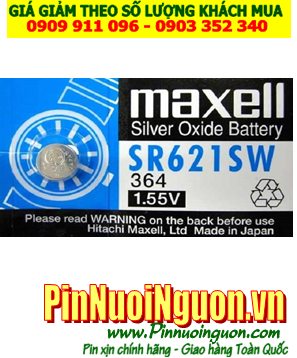 Pin SR621SW _Pin 364; Pin Maxell SR621SW 364 silver oxide 1.55v _Made in Japan