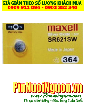 PinSR621SW _Pin 364;  Pin Maxell SR621SW 364 silver oxide 1.55V _Made in Japan