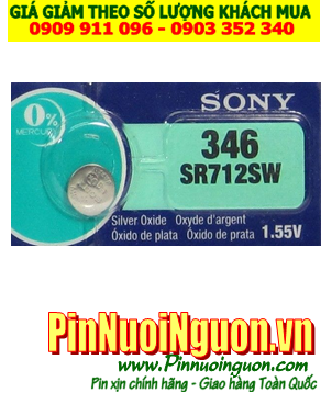 Pin SR712SW  _Pin 346; Pin Sony SR712SW 346 silver oxide 1.55v _Made in Indonesia