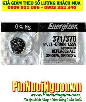 Pin SR920SW _Pin 371; Pin Energizer SR920SW 371 silver oxide 1.55v _Made in USA