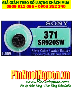 Pin SR920SW _Pin 371; Pin Sony SR920SW 371 silver oxide 1.55v _Made in Indonesia