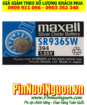 Pin SR936SW _Pin 394; Pin Maxell SR936SW 394 silver oxide 1.55v _Cells in Japan