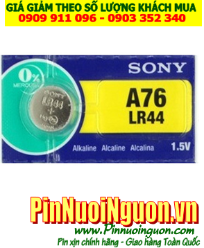 Pin đồng hồ A76-LR44; Pin Sony A76-LR44 alkaline 1.55v _Made in Indonesia _1viên
