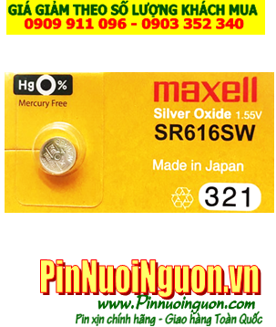 Pin SR616SW _Pin 321; Pin Maxell SR616SW 321 Silver Oxide 1.55v _Cell in Japan