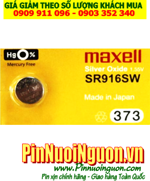 Pin SR916SW _Pin 373; Pin Maxell SR716SW 373 Silver Oxide 1.55v _Cells in Japan