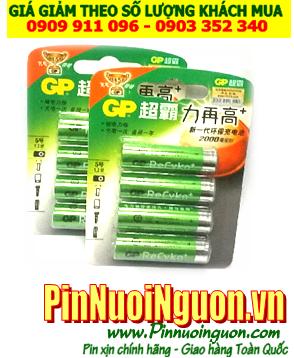 Pin sạc AA GP Recyko 2000mAh -1.2V | 210-AA-U2 thế hệ mới chính hãng | hàng có sẳn - Vỉ 4 viên