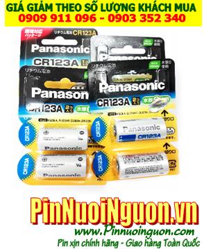 Pin Panasonic CR123A, CR17345 Photo Lithium 3V chính hãng thị trường nội địa Nhật-vỉ pin ghi chữ Nhật | hàng có sẳn