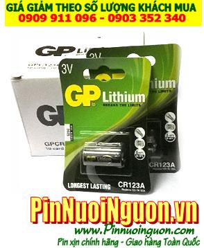 Pin lithium 3V  CR123A, CR17345 Photo lithium chính hãng GP | mẫu mới nhất của năm-Có sẳn hàng
