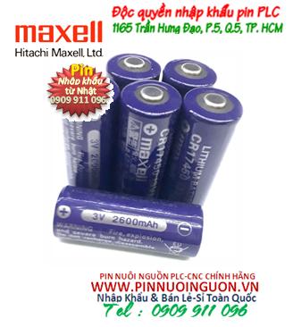 Pin CR17450 _Pin Maxell CR17450; Pin nuôi nguồn Maxell CR17450 lithium 3v 2600mAh _Xuất xứ Nhật