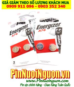 Pin A76-LR44; Pin 1.5v Alkaline Energizer A76-LR44 _Vỉ 2viên (Mẫu mới)