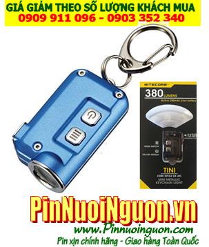 Đèn pin móc khóa siêu sáng NItecore TINI blue bóng CREE XP-G2 S3 với 380lumens chiếu xa 64m, cổng sạc USB chính hãng| HÀNG CÓ SẲN