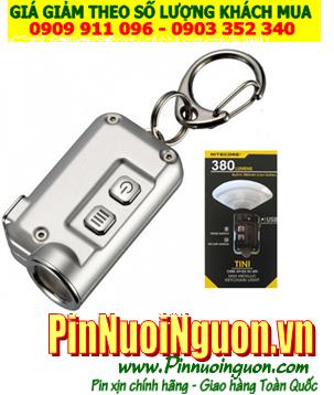 Đèn pin siêu sáng móc khóa Nitecore TINI White bóng CREE XP-G2 S3 với 380lumens chiếu xa 64m  cổng sạc USB chính hãng| HÀNG CÓ SẲN
