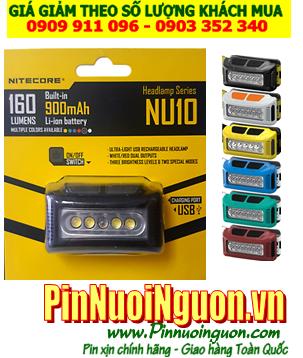 Đèn pin đội đầu siêu sáng Nitecore NU10 với 160Lumens chiếu xa 100m| Bảo hành 2 năm