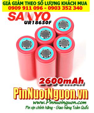 Sanyo UR18650F; Pin sạc 3.7v 18650 Sanyo UR18650F 2600mAh (Discharge 4.5A) _Made in Japan