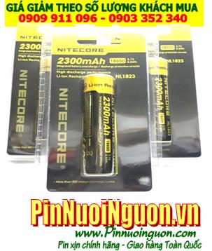 Pin sạc Nitecore NL1823-2300mAh-3.7v (18650-2300mAh-3.7v) chính hãng NItecore sử dụng cho đèn pin | CÒN HÀNG
