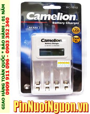 Máy sạc pin Máy ảnh - Sạc nhanh 6giờ Camelion BC-1012 _có màn hình LCD _Sạc được 2-4 pin AA-AAA