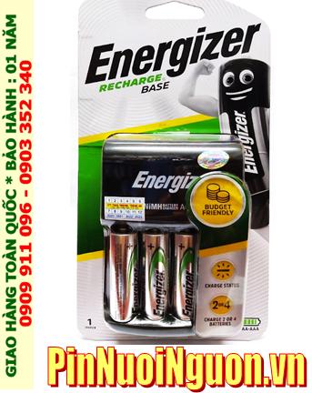 Bộ sạc pin Energizer CHVC4 (4AA1300mAh), kèm 4 pin sạc Energizer AA1300mAh 1.2v chính hãng