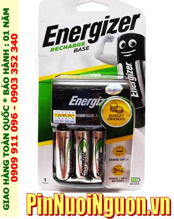 Bộ sạc pin AA Energizer CHVC4 (4-AA2300mAh), kèm sẳn 4 pin sạc Energizer AA2300mAh 1.2v chính hãng