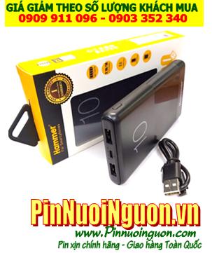 Pin sạc dự phòng HAMMER PB-HAM-05 với Dung lượng chuẩn 10 000mAh chính hãng | Bảo hành 1 năm | CÒN HÀNG