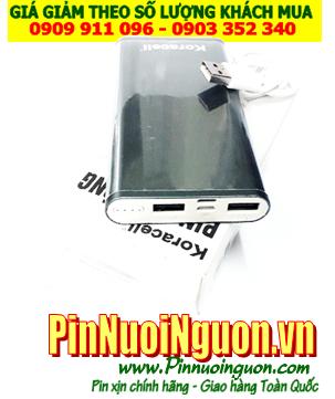 Pin sạc dự phòng KORA-020 với dung lượng chuẩn 10 800mAh (Vỏ XANH ĐEN) | HÀNG CÓ SẲN-Bảo hành 1 năm