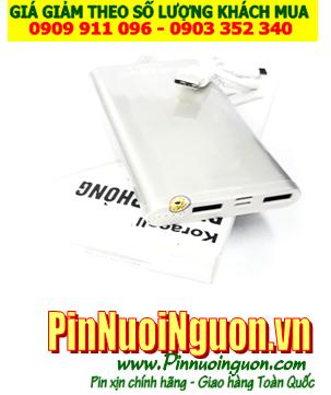 Pin sạc dự phòng KORA-020 với dung lượng chuẩn 10 800mAh (Vỏ TRẮMG) | HÀNG CÓ SẲN-Bảo hành 1 năm