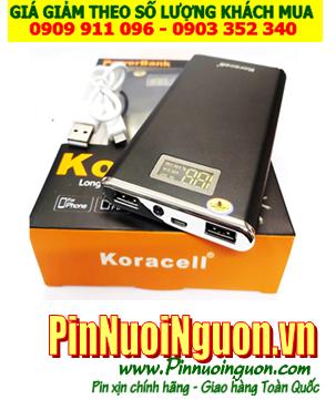 Pin sạc dự phòng đề nổ được máy xe Ôtô Tablet KORA-011 với dung lượng 12,000mAh đúng chuẩn - đúng dung lượng chính hãng Koracell | Bảo hành 1 năm