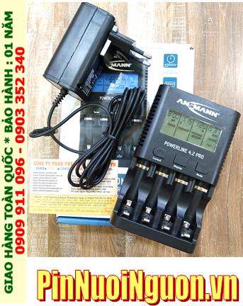 Bộ sạc pin AA, AAA Ansman Powerline 4.2V PRO (Màn hình LCD, Đo được dung lượng pin, Xả Pin) _PHIÊN BẢN MỚI