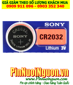 Pin kính 3D Sony CR2032 lithium 3V chính hãng Sony | có sẳn hàng