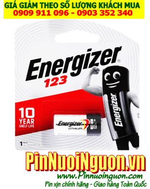 Pin CR123A _Pin CR17345; Pin 3v Photo Lithium Energizer CR123A/ EL123A _Vỉ 1viên