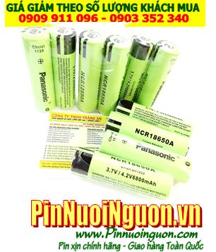 Pin sạc 3.7v _Pin sạc 4.2v; Pin sạc Panasonic NCR18650A 6800mAh (3.7v-4.2v) đầu lồi (chỉ sử dụng cho Đèn pin, Quạt điện)