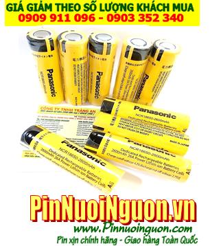 Pin sạc 3.7v _Pin sạc 18650; Pin sạc Panasonic NCR18650 2600mAh dòng xả 10A _Cell đầu bằng