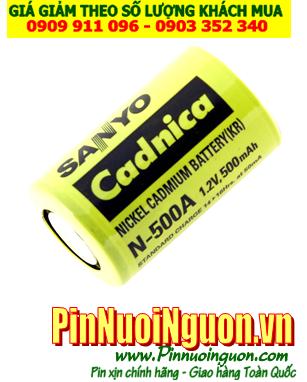 Pin sạc công nghiệp chính hãng Sanyo Cadnica 2/3AA-500mAh-1.2V (HSX: Sanyo)/ Đặt hàng trước