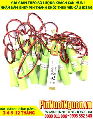 Pin đèn Khẩn cấp Paragon 2.4v -2/3A600mAh; Pin sạc đèn Paragon NiMh-NiCd 2.4v -2/3A600mAh; Pin đèn sự cố-Exit Paragon 2.4v -2/3A600mAh