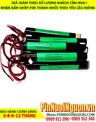 Pin đèn Eixt 3.6V-AA1000mAh, Pin đèn thoát hiểm 3.6V-AA1000mAh, Pin đèn khẩn cấp 3.6V-AA1000mAh| Bảo hành 1 năm