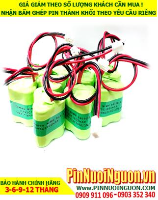 Pin đèn exit 3.6v-4/5SC2000mAh, Pin đèn khẩn cấp 3.6v-4/5SC2000mAh, Pin đèn thoát hiểm 3.6v-4/5SC2000mAh-Bảo hành 1 năm