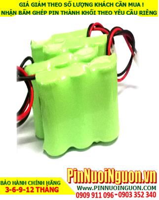 Pin đèn exit 3.6v AA1400mAh NiMh-NiCd, Pin đèn khẩn cấp NiMh 3.6v AA1400mAh, Pin đèn thoát hiểm 3.6v AA1400mAh chính hãng| Bảo hành 9 tháng
