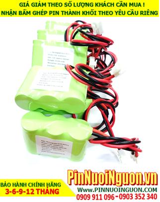 Pin đèn khẩn cấp 3.6v SC2000mAh, Pin đèn sự cố  3.6v SC2000mAh; Pin đèn Exit 3.6v SC2000mAh; Pin sạc NiMh 3.6v SC2000mAh