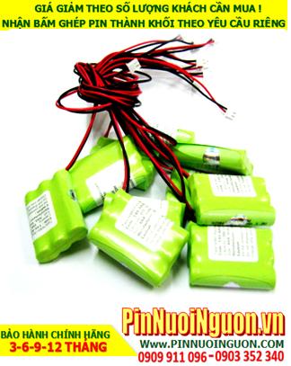 Pin đèn Exit 3.6v AAA550mAh, Pin đèn khẩn cấp 3.6v AAA550mAh, Pin đèn sự cố 3.6v AAA550mAh; Pin sạc NiMh 3.6v AAA550mAh