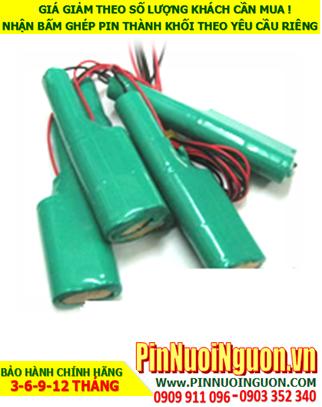 Pin đèn Exit 3.6v AA1200mAh, Pin đèn khẩn cấp 3.6v AA1200mAh; Pin đèn sự cố thoát hiểm 3.6v AA1200mAh; Pin sạc NiMh 3.6v AA1200mAh