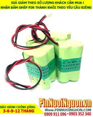 Pin đèn Exit 4.8V-AA600mAh; Pin đèn Khẩn cấp 4.8V-AA600mAh; Pin đèn Thoát hiểm 4.8V-AA600mAh; Pin đèn Sự cố 4.8V-AA600mAh