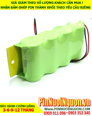 Pin đèn exit 4.8v-C3000mAh, Pin đèn khẩn cấp 4.8v-C3000mAh, Pin đèn thoát hiểm 4.8v-C3000mAh-Bảo hành 1 năm