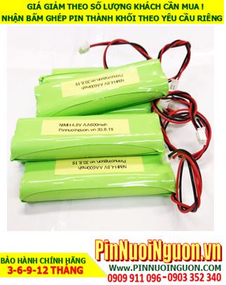 Pin đèn Exit 4.8v AA600mAh; Pin đèn sự cố 4.8v AA600mAh; Pin đèn khẩn cấp 4.8v AA600mAh; Pin sạc NiMh 4.8v AA600mAh
